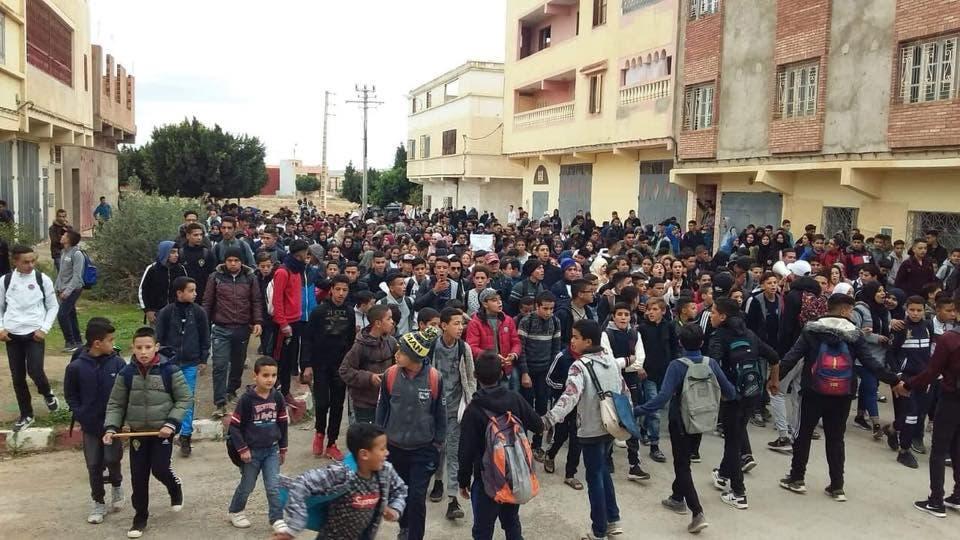احتجاجات التلاميذ