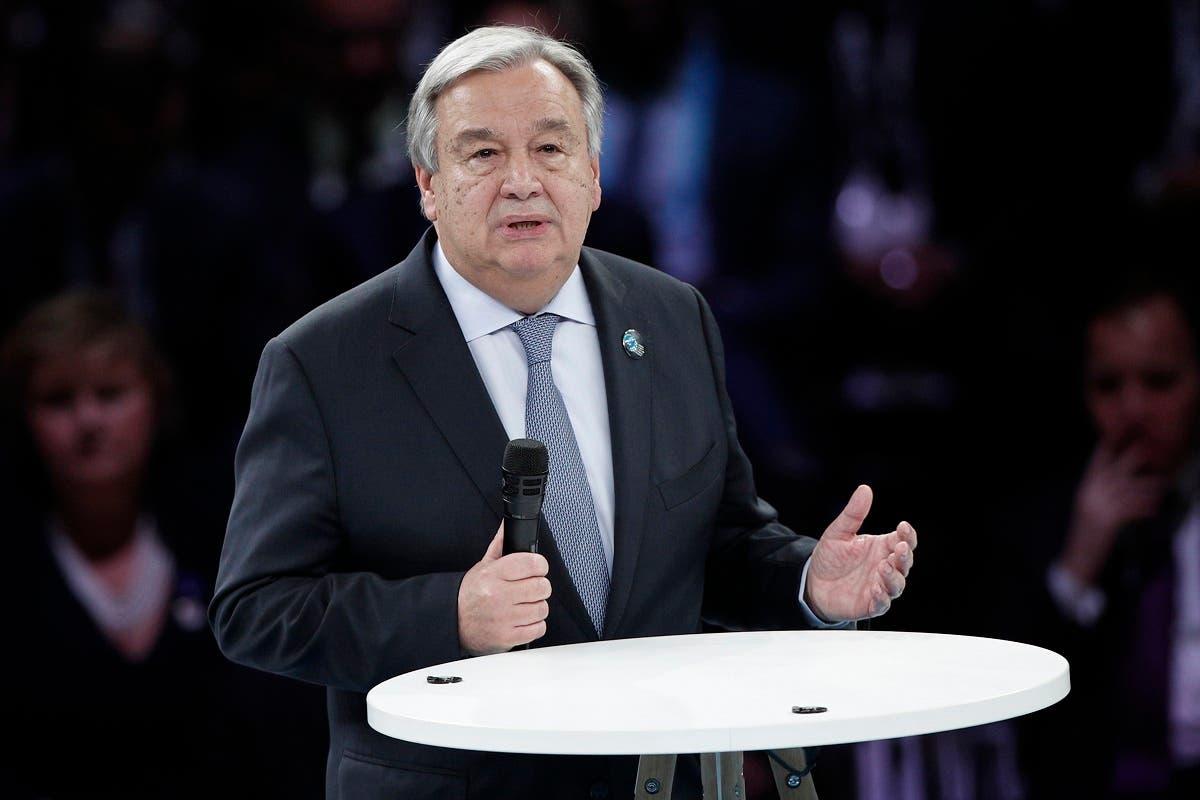 United Nations Secretary-General Antonio Guterres in Paris (AP)