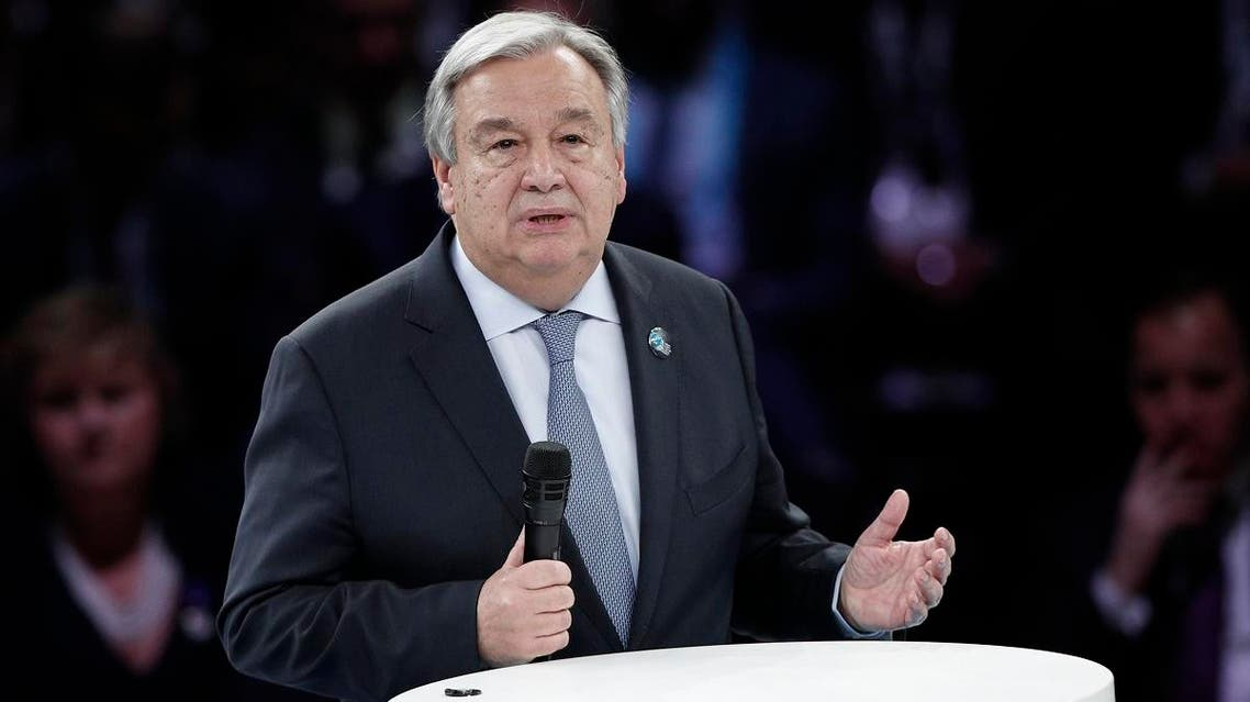 United Nations Secretary-General Antonio Guterres in Paris (AP)