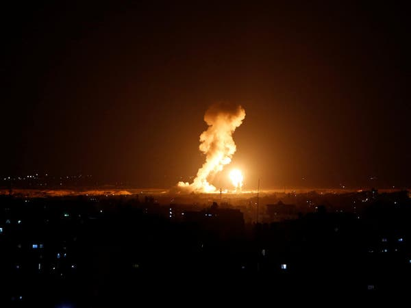 غارات إسرائيلية على مجمع عسقلان شمال قطاع غزة