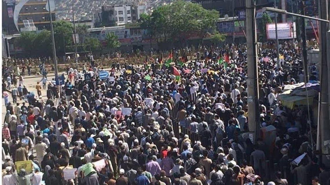 تظاهرات شهروندان افغانستان در واکنش به ناامنیها در ارزگان، مالستان و جاغوری