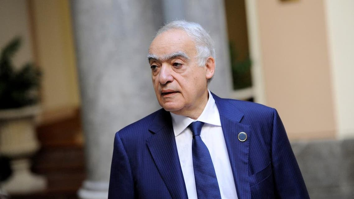 UN Envoy to Libya Salame arrives for interview with Reuters in Palermo. (Reuters)