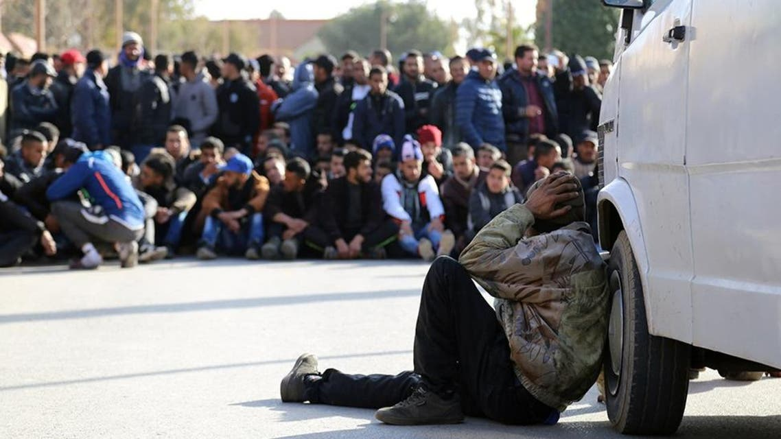 file photo moroccan man mourns afp