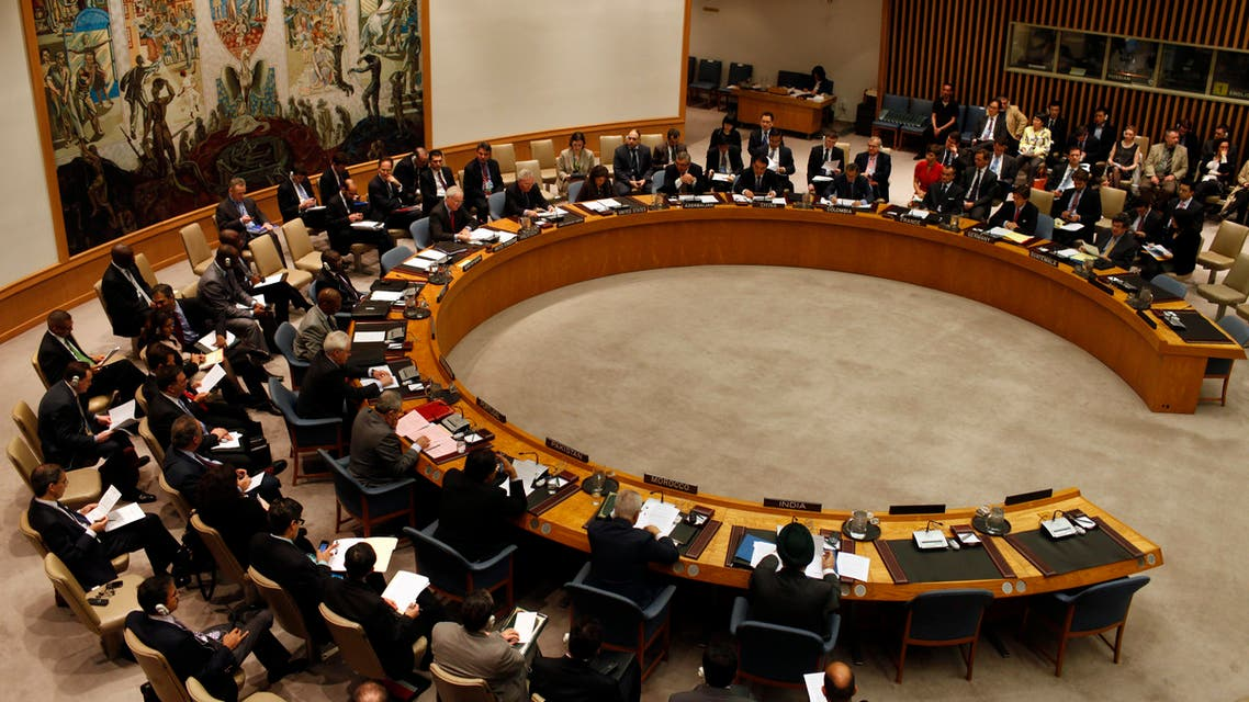 اجتماع مجلس الأمن التابع للأمم المتحدة. صورة من أرشيف رويترز.