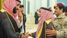 Saudi Crown Prince meets with families of soldiers who died while on duty