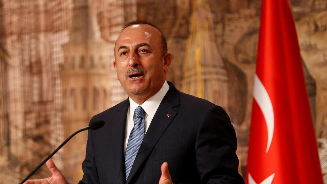 Turkish Foreign Minister Cavusoglu speaks during a news conference in Istanbul. (Reuters)