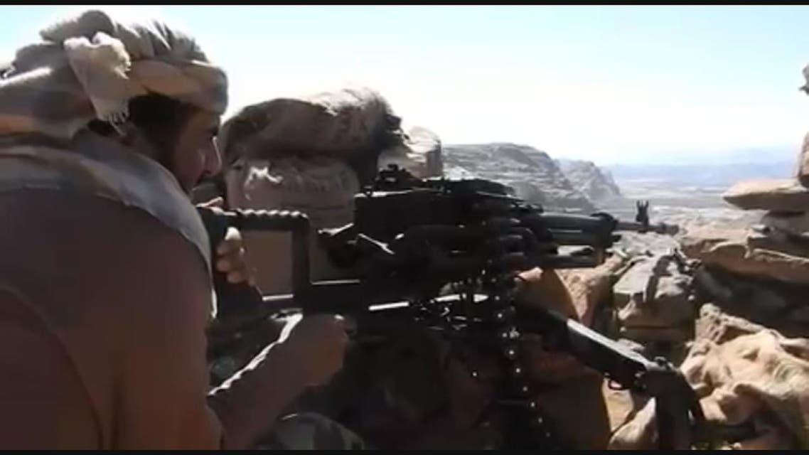 شاهد سيطرة الجيش اليمني على حصن باقم
