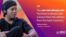 Misk Global Forum hosts football legend Ronaldinho on the importance of teamwork