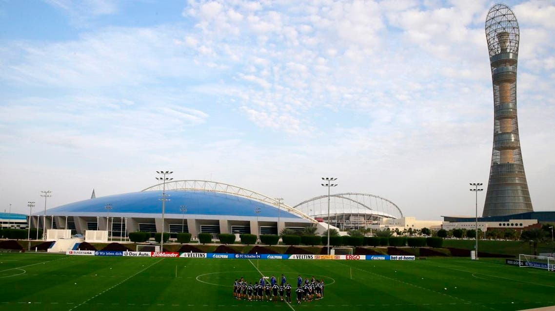 training session at the Aspire Academy of Sports Excellence in Doha January 5, 2014. (Reuters)