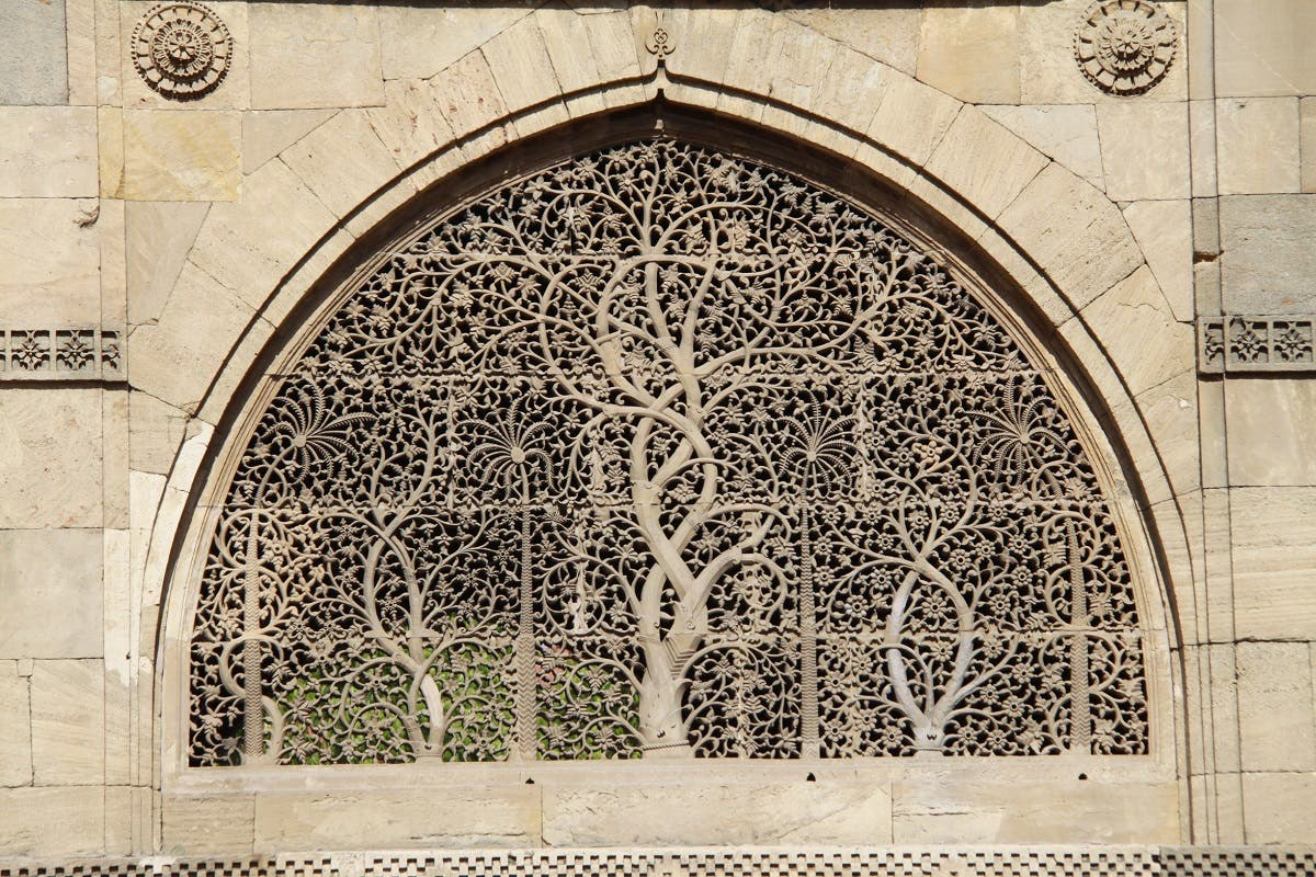 The Sidi Sayed Mosque is known for its ten intricately-carved stone latticework windows on the side and rear arches. (Supplied)