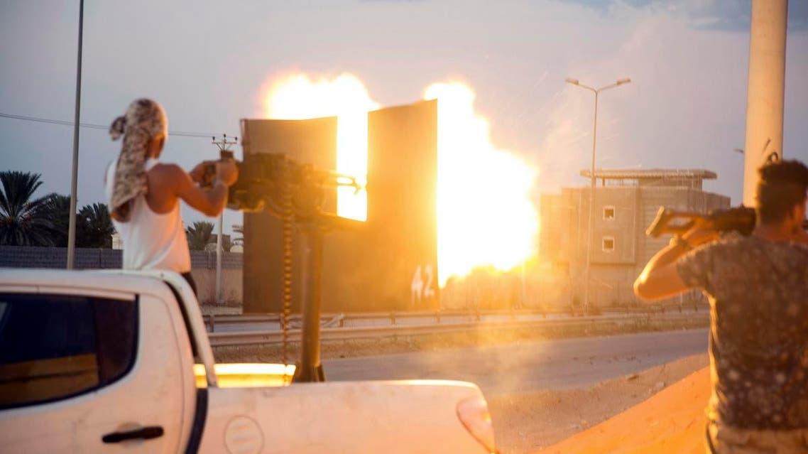 Libya Tripoli clashes. (AP)