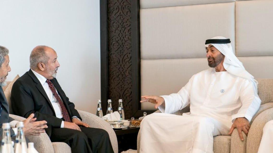 Abu Dhabi Crown Prince and Abdul Wahab Ahmad al-Anisi (Supplied)