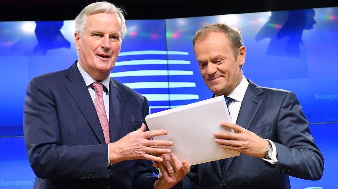 European Council President Donald Tusk (R) (AFP)