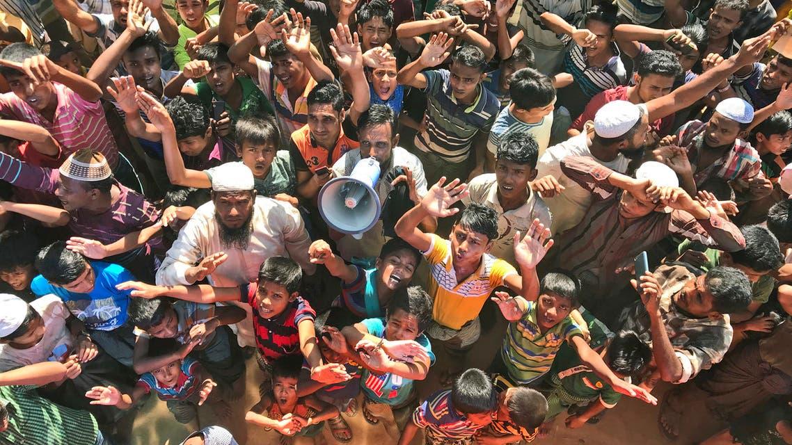 الروهينغا تظاهرات في بنغلادش