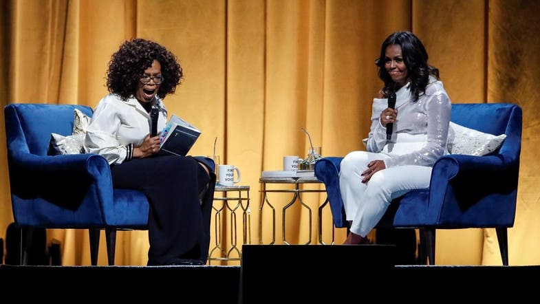 Michelle Obama begins arena tour for new book in talk with Oprah
