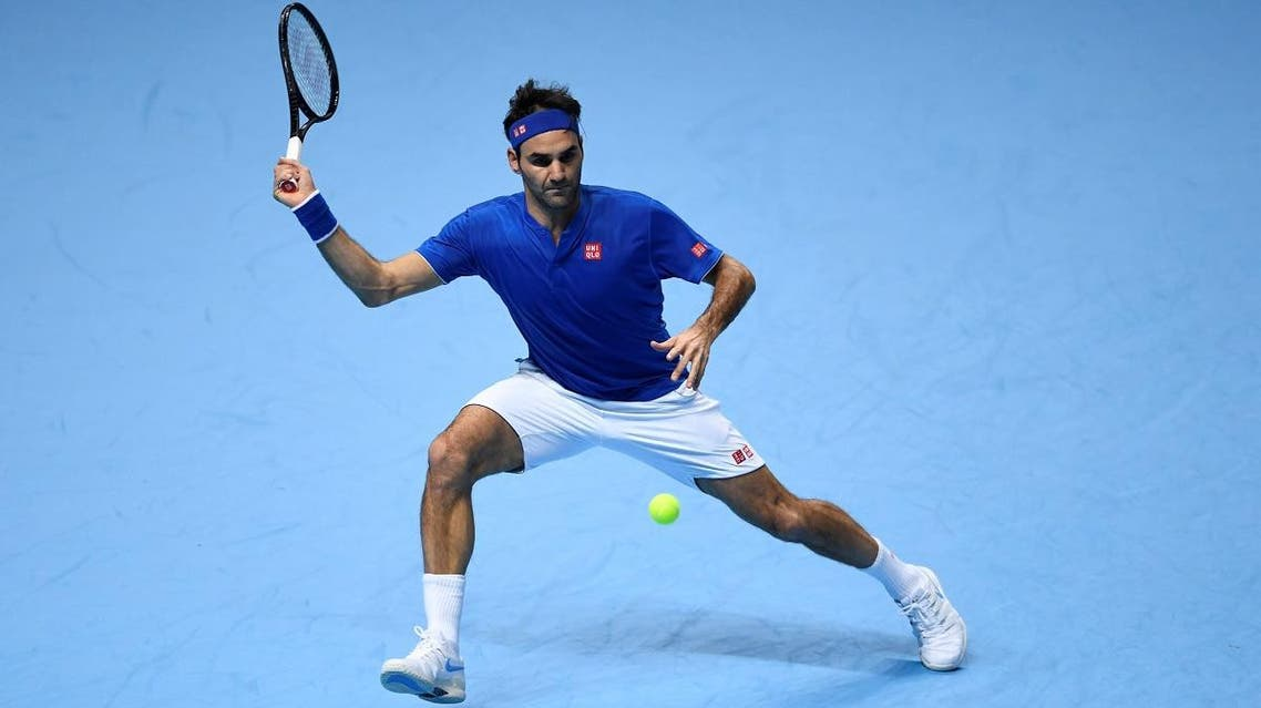 Switzerland's Roger Federer in action during his group stage match against South Africa's Kevin Anderson. (Reuters)