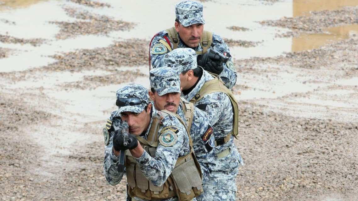 File photo of Iraqi policemen demonstrate combat techniques during a training session in Baghdad, Iraq. (AP)