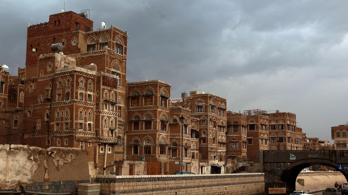 he traditional architecture of the historical old Yemeni capital of Sanaa, that is currently listed as one of the world heritage sites by the United Nations Educational, Scientific and Cultural Organisation (File photo: AFP)