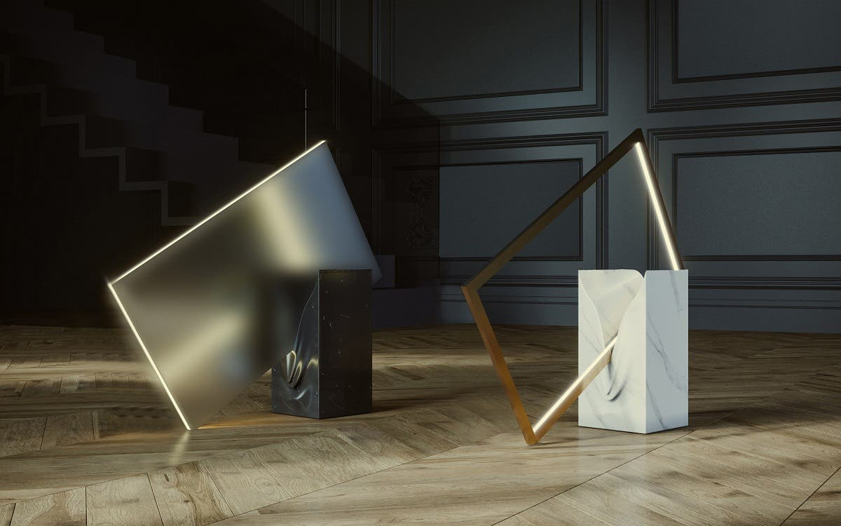 'The melting Lamps' by Tarek Elkassouf, Design Collective. (Supplied)