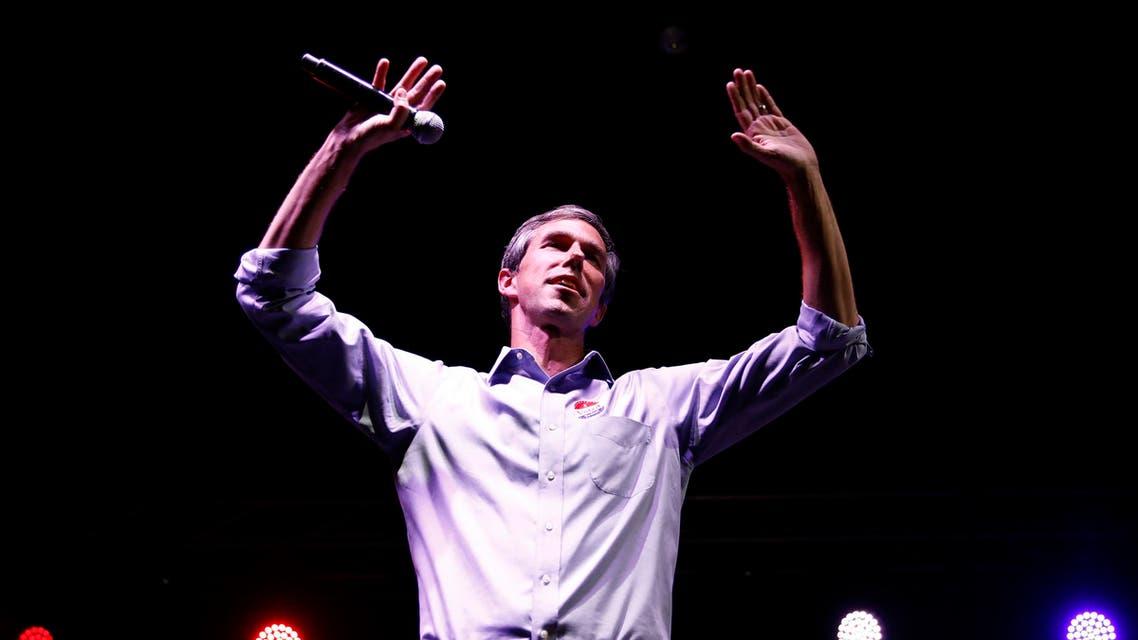 Democratic Texas US Senate candidate Rep. Beto O'Rourke concedes to Senator Cruz in El Paso, Texas. (AP)
