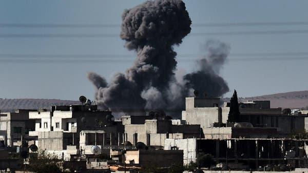 """من قصف سابق للتحالف على سوريا """"أرشيفية"""""""