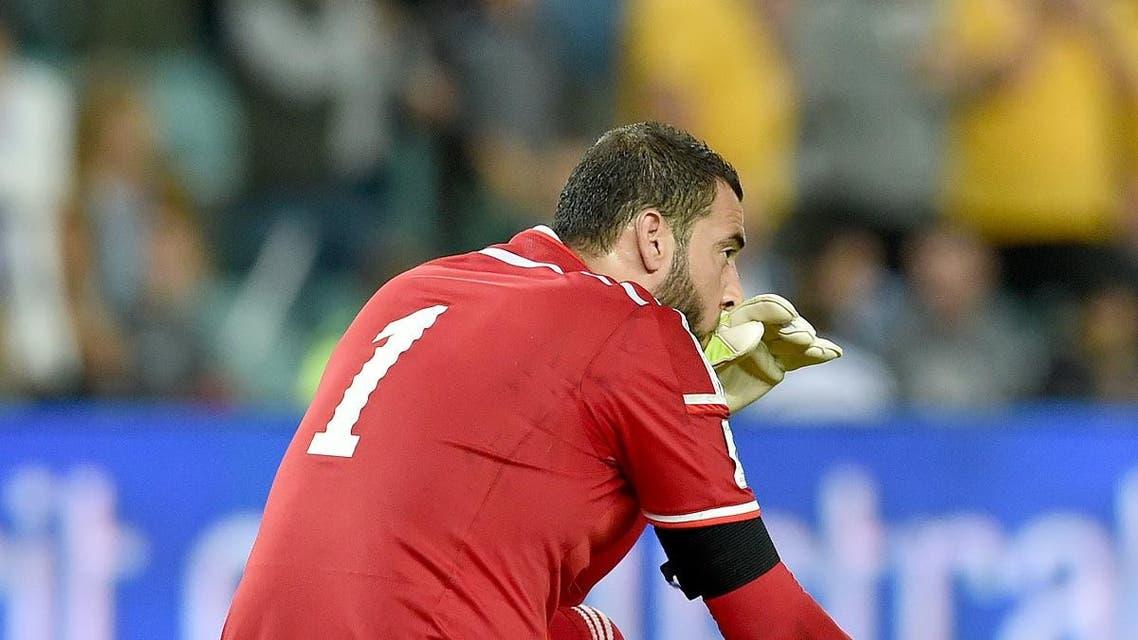 Amer Shafi Jordan goalkeeper. (AFP)