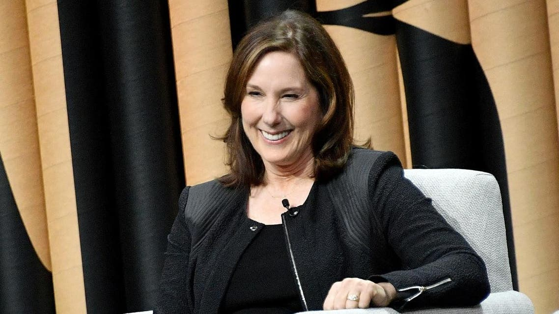 """Producer/president at Lucasfilm, Kathleen Kennedy, speaks onstage during """"Inside the House of Disney"""" at the Vanity Fair New Establishment Summit at Yerba Buena Center for the Arts on October 19, 2016. (AFP)"""