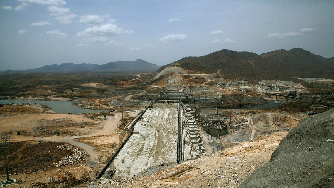A photo taken on March 31, 2015 shows the Grand Renaissance Dam under construction near the Sudanese-Ethiopia border. Ethiopia began diverting the Blue Nile in May 2013 to build the 6,000 megawatt dam, which will be Africa's largest when completed in 2017. The leaders of Egypt and Ethiopia promised on March 24 to boost cooperation on the Nile river and turn a page on a long-running row over Addis Ababa's controversial dam project. Egypt, heavily reliant for millennia on the Nile for agriculture and drinking water, feared that the Grand Renaissance Dam would decrease its water supply. AFP PHOTO / ZACHARIAS ABUBEKER