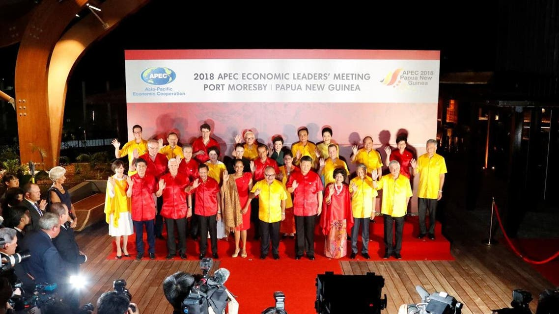 Leaders pose for a family picture at the APEC Summit in Port Moresby. (Reuters)