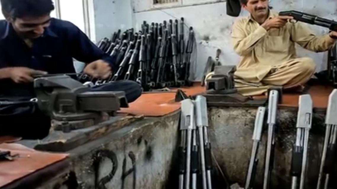 Pakistan gun making. (Supplied)