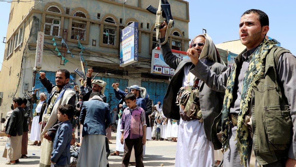 عناصر من ميليشيا الحوثي - اليمن