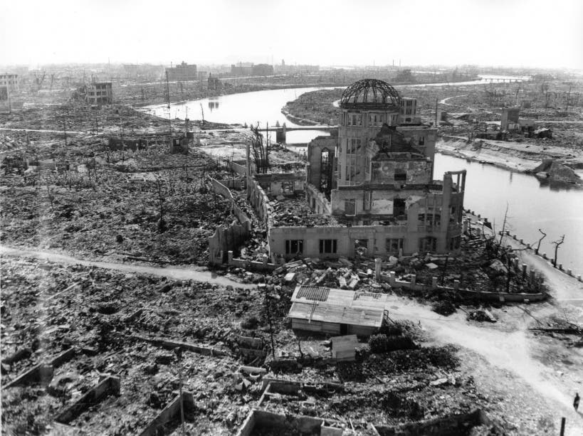 هيروشيما عقب قصفها بالقنبلة الذرية
