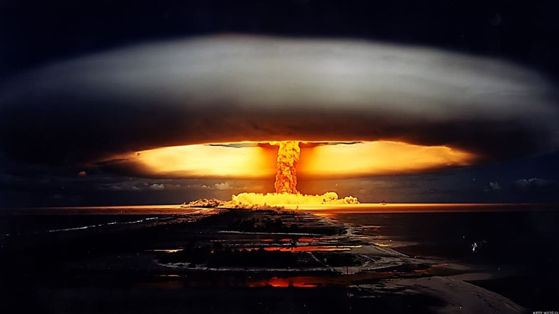 صورة لأحد الإنفجارات النووية