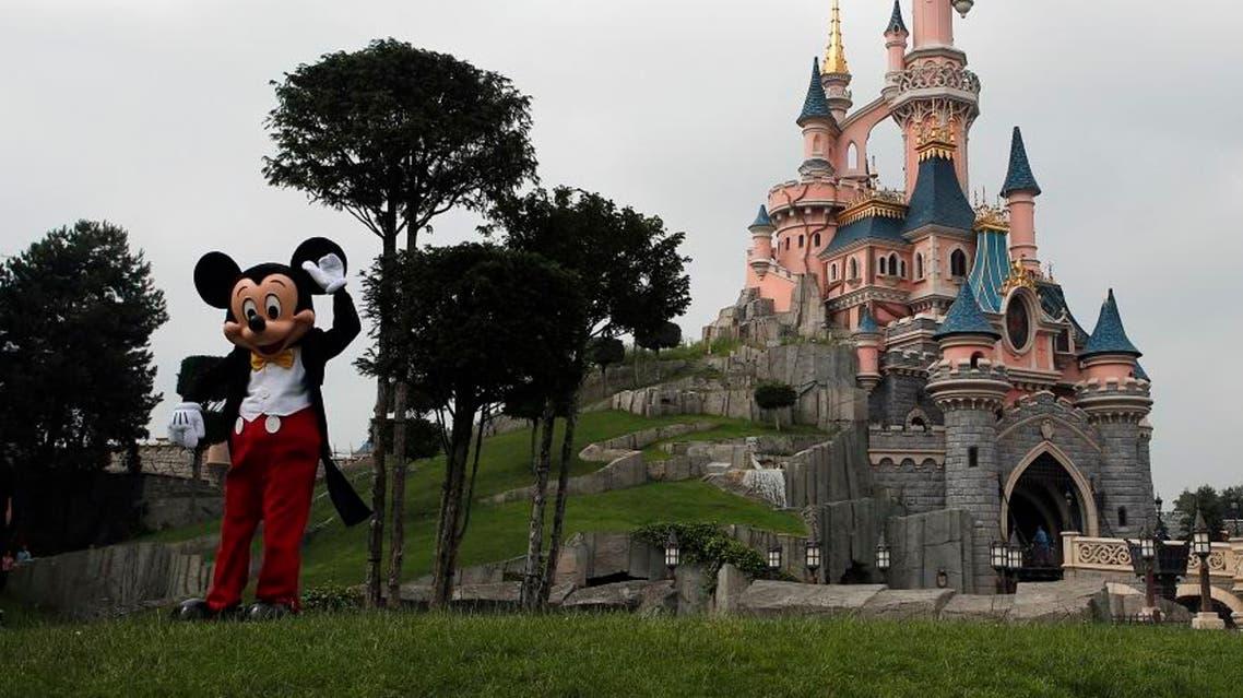mickey mouse visits paris disney land ap