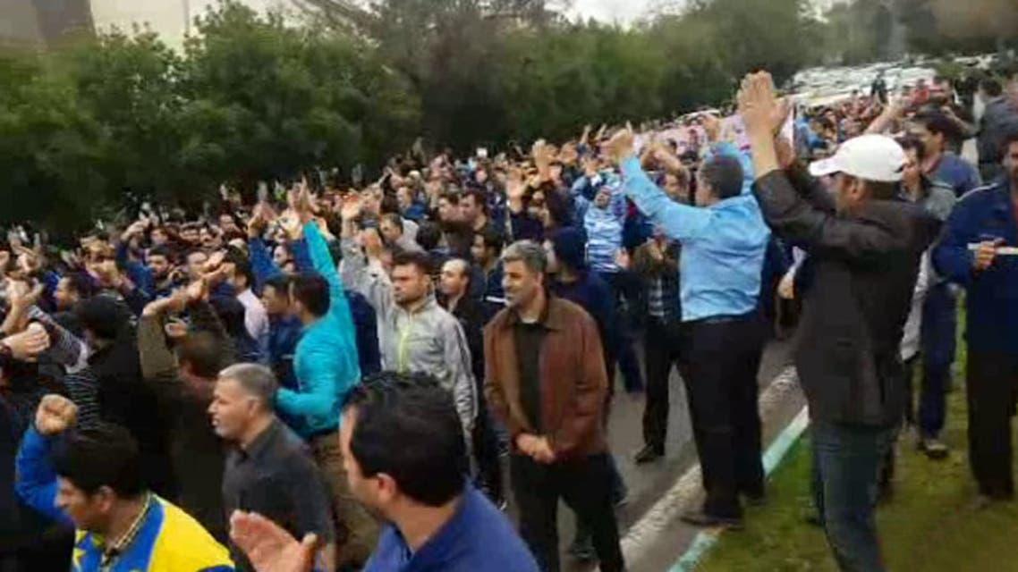 استمرار مظاهرات عمال إيران