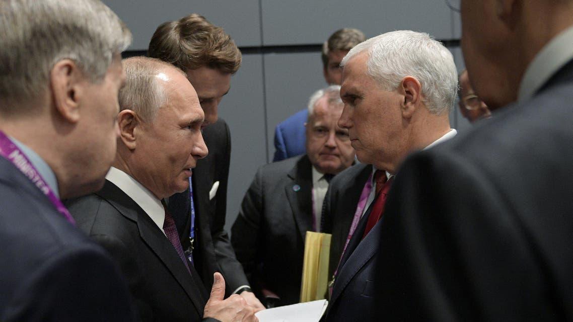 مايك بنس و فلاديمير بوتين