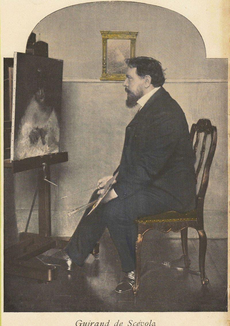 صورة للرسام الفرنسي لوسيان فيكتور غيران دي سكيفولا