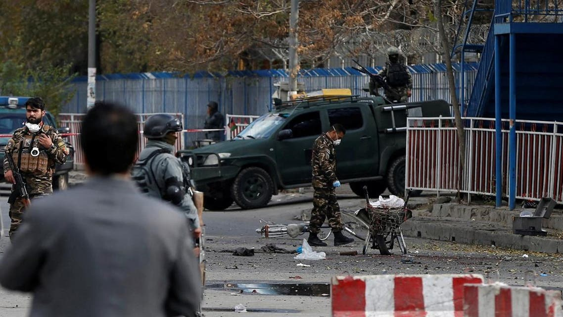 File photo of Afghan security forces inspecting the site of a blast in Kabul, Afghanistan November 12, 2018.  (Reuters)