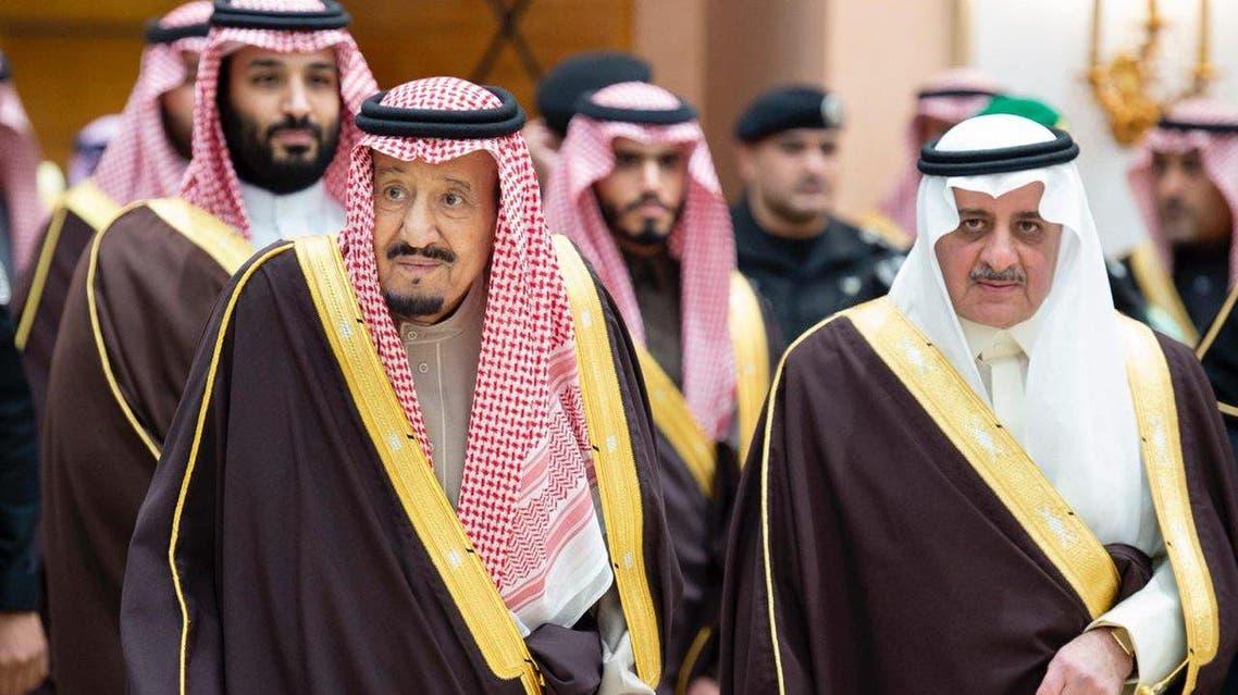 Saudi Arabia's King Salman arrives in Tabuk