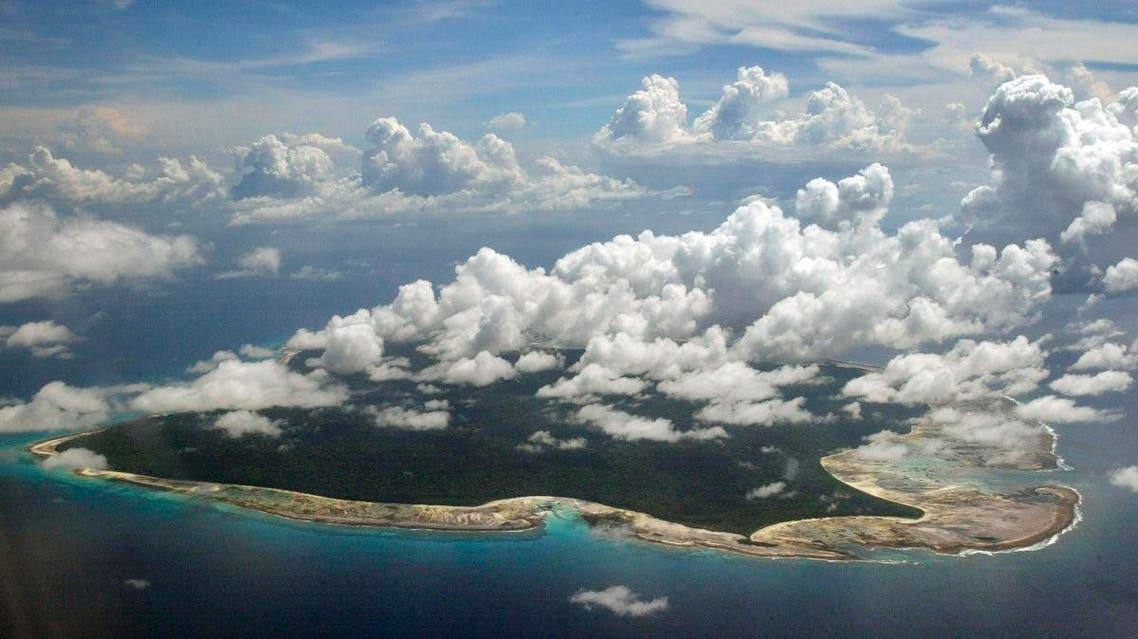 Clouds hang over the North Sentinel Island, in India's southeastern Andaman and Nicobar Islands.  (AP)