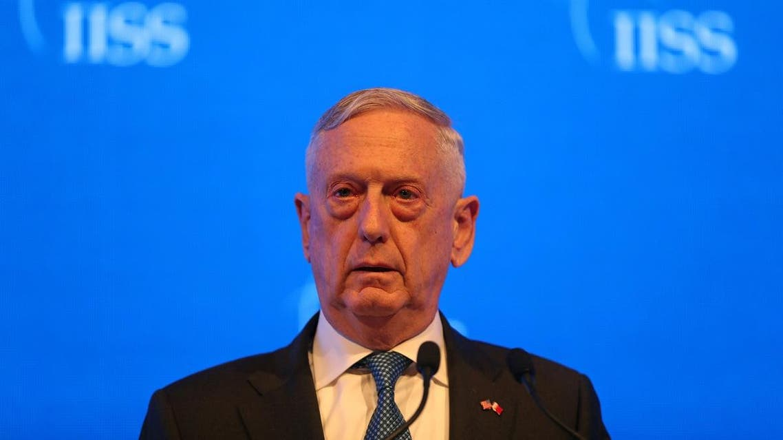 U.S. Defense Secretary James Mattis speaks during the second day of the 14th Manama dialogue, Security Summit in Manama. (Reuters)