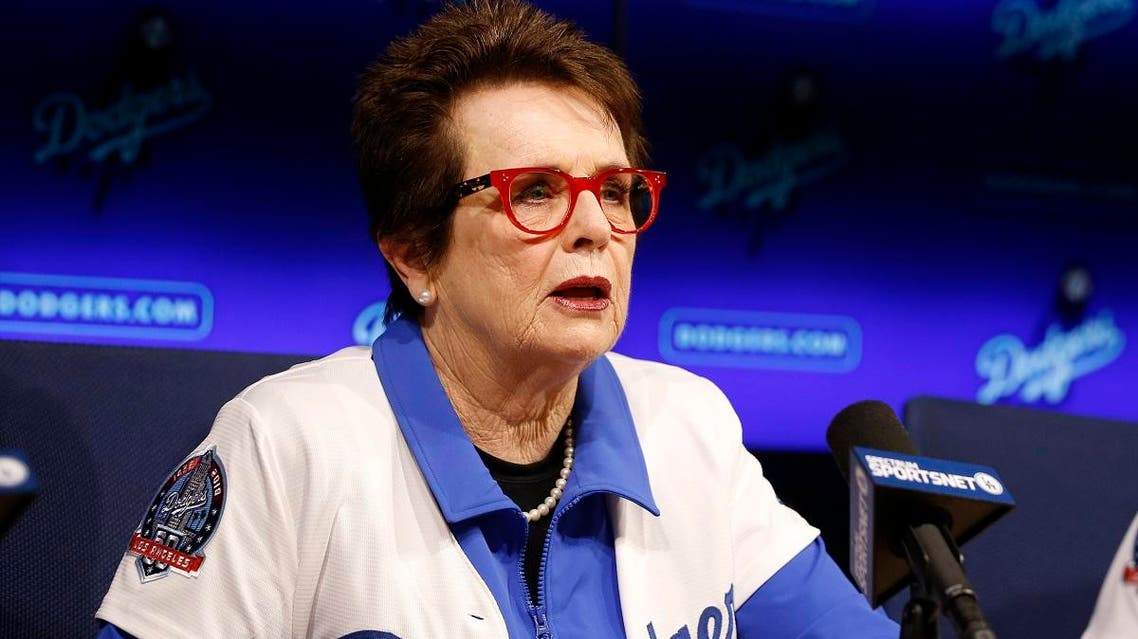 Tennis champion Billie Jean King speaks during a news conference. (AP)