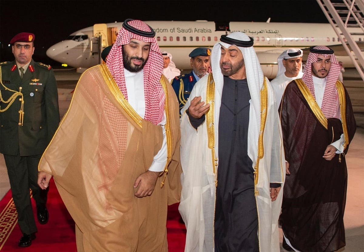 Saudi Crown Prince with Mohammed bin Zayed in Abu Dhabi.