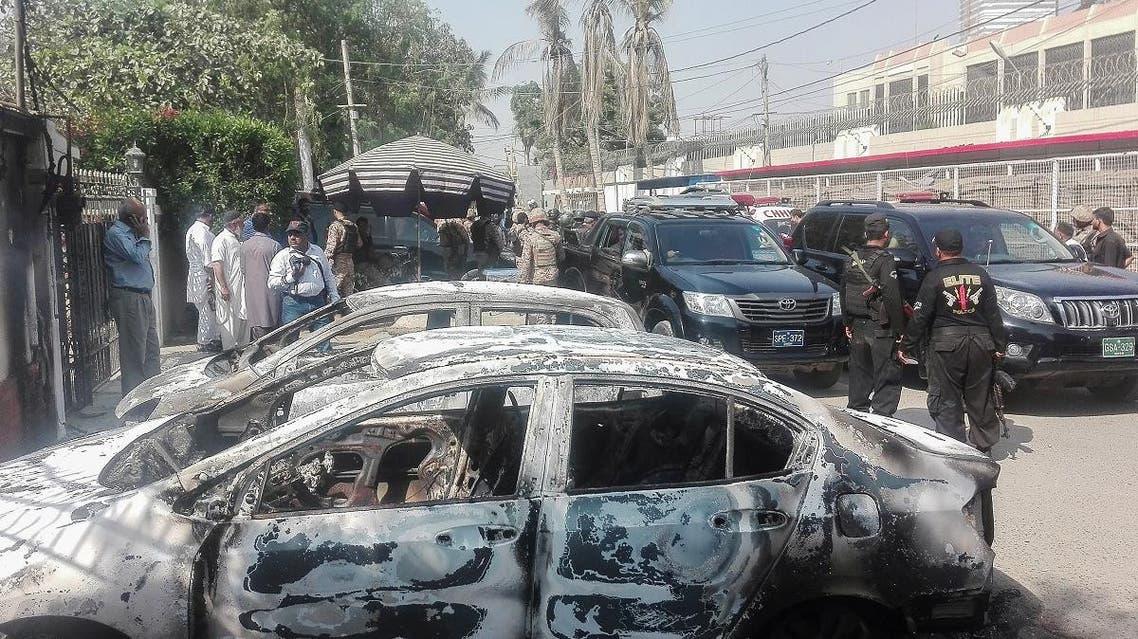Pakistan China consulate attack (AFP)