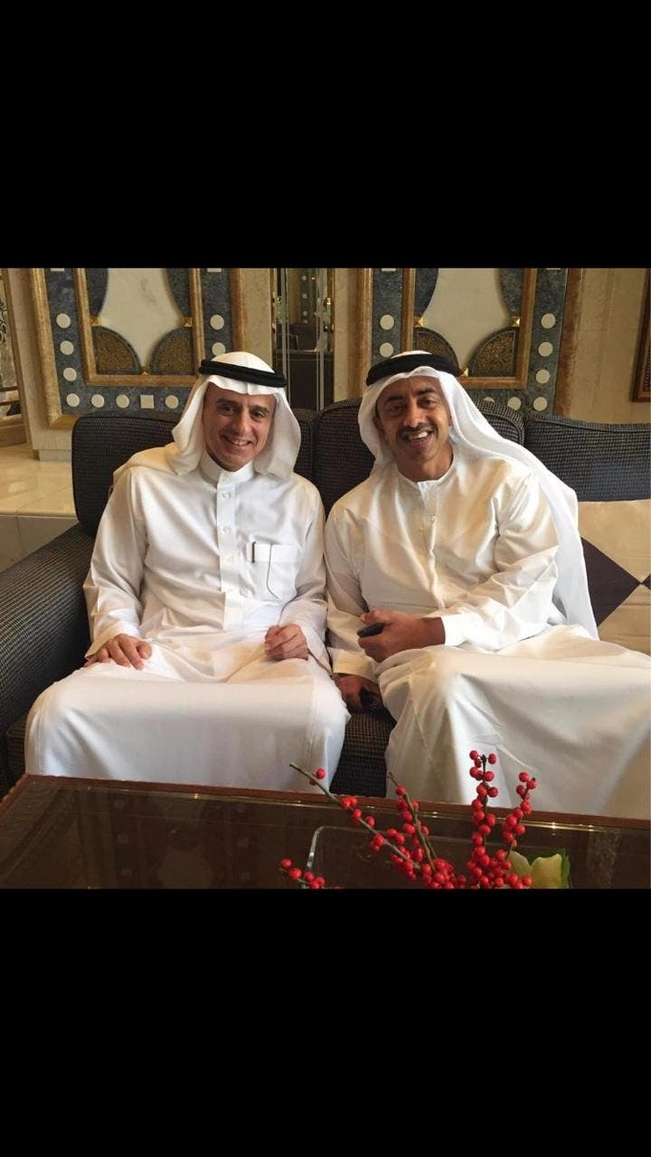 Jubeir and AZayed 1 (Twitter)
