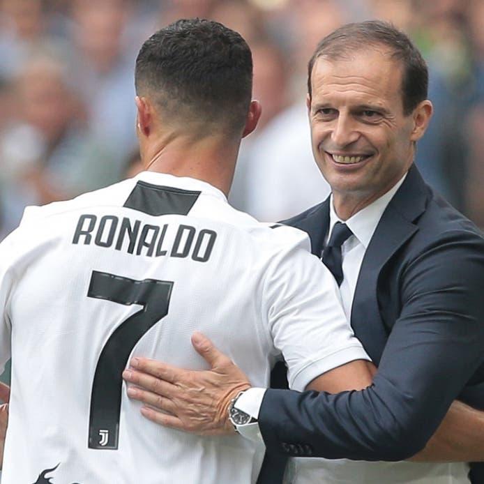 أليغري: رونالدو يستحق الفوز بالكرة الذهبية