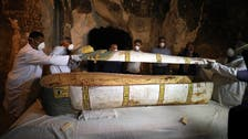 Egypt unveils previously unopened ancient female sarcophagus