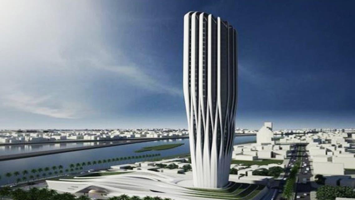 تصميم المعمارية الراحلة زها حديد لمبنى البنك المركزي الجديد