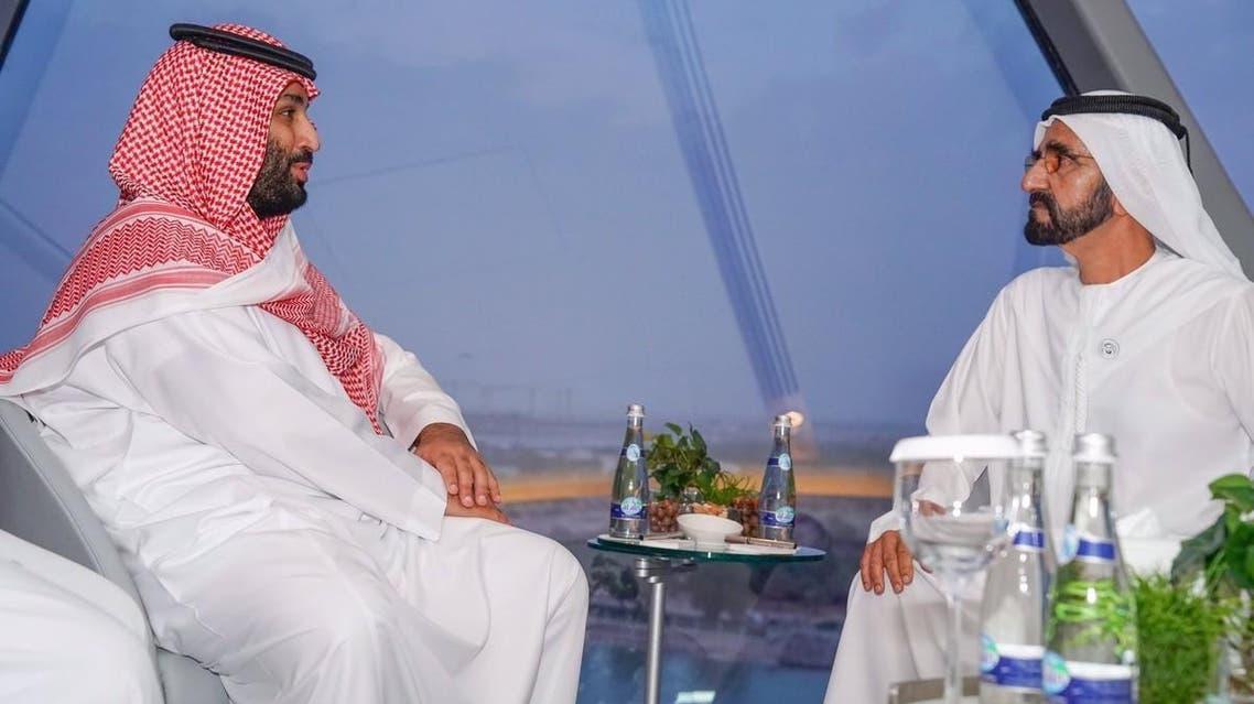 Saudi Crown Prince meets with Dubai ruler in Abu Dhabi.