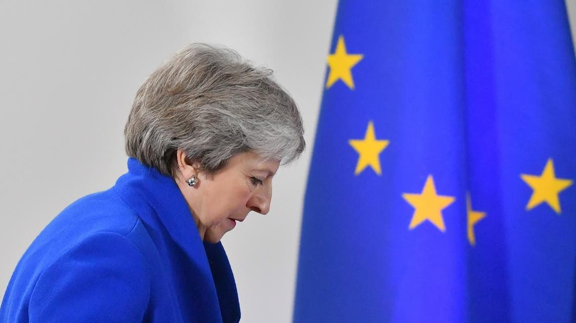 UK May in Brussels (AFP)